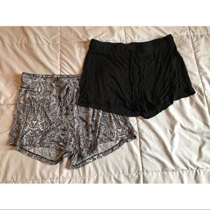 2 pajama shorts